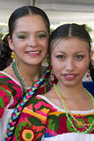 Girls on traditional costumes Royalty Free Stock Photos