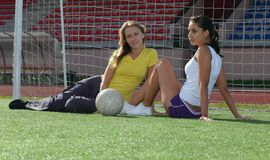 Girls after training Stock Images