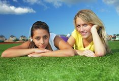 Girls after training Royalty Free Stock Photos