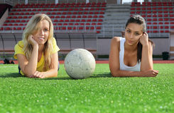 Girls after training Stock Photography