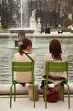 Girls in Tuileries garden in Paris Stock Images