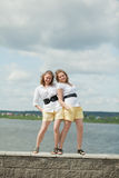 Girls twin sisters Stock Image