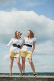 Girls twin sisters Royalty Free Stock Photography