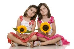Girls twins Stock Image