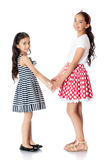 Girls twins hug Royalty Free Stock Image