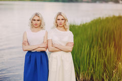 Girls twins out Royalty Free Stock Photos