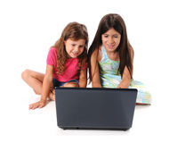 Girls Using a Laptop Stock Photos