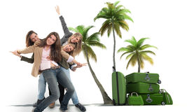 Girls on a vacation Royalty Free Stock Images