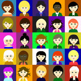 25 girls Vector 2 2 Stock Photography