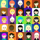 25 girls Vector 4 4 Royalty Free Stock Image