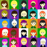 25 girls Vector 5 5 Royalty Free Stock Photo