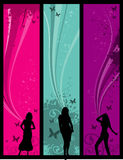 Girls vector Royalty Free Stock Photos