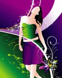 Girls vector composition Royalty Free Stock Images
