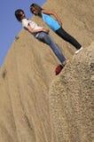 Girls on volcanoes Stock Photography