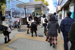 Girls walking in Shinjuku Japan Royalty Free Stock Photo