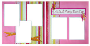 Girls Want To Have Fun Scrapbook Page Stock Photo