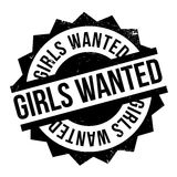 Girls Wanted rubber stamp Stock Images