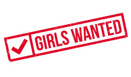 Girls Wanted rubber stamp Royalty Free Stock Image