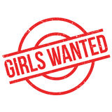 Girls Wanted rubber stamp Royalty Free Stock Images