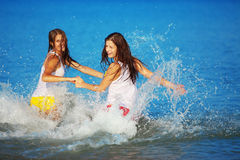 Girls in water Stock Photos