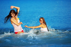 Girls in water Royalty Free Stock Photography