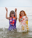 Girls in the water Royalty Free Stock Images