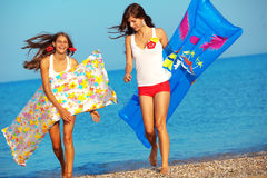 Girls in water Royalty Free Stock Images