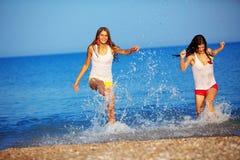 Girls in water Stock Photo