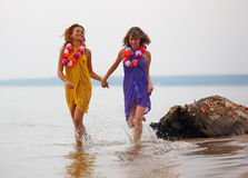 Girls in the water Stock Photography