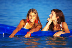 Girls in water Royalty Free Stock Image