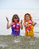 Girls in the water Stock Photos