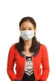 Girls wearing masks Royalty Free Stock Image
