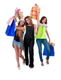 Girls went shopping Royalty Free Stock Photos
