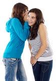 Girls Whispering A Secret Royalty Free Stock Photos