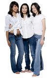 Girls In White Stock Images