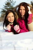 Girls in winter Royalty Free Stock Images