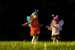 Girls With Fairy Wings Royalty Free Stock Image