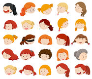 Girls and women faces Stock Photo