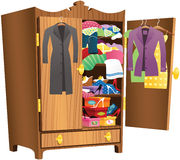 Girls wooden wardrobe Royalty Free Stock Image