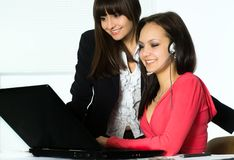 Girls working in the office Stock Photography