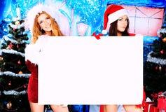 Girls xmas Royalty Free Stock Photos