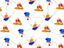 Vector Yoga Girls vector illustration