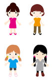 Girls2. The cartoon girl series——braid, Bob Royalty Free Stock Photography