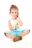 Girlt et téléphone Photo libre de droits