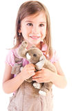 Girlt take a toy Royalty Free Stock Photos