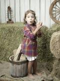 Girlwithhay Stock Image