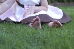 Girly пальцы ноги стоковая фотография