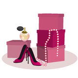Girly accessories Royalty Free Stock Image