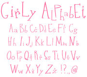 Girly alphabet Royalty Free Stock Image