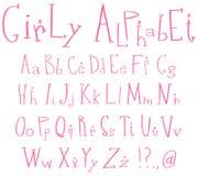 Girly alphabet Royalty Free Stock Image
